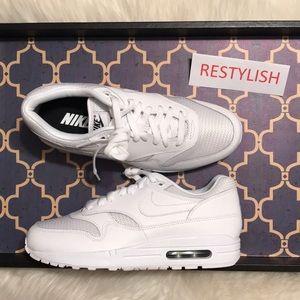 f514d0962d Nike Shoes - NIKE ID AIR MAX 1 TRIPLE WHITE WOMENS SHOES